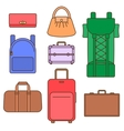 Different types of bags vector image