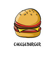 drawing cheesburger vector image