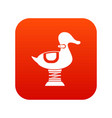 duck spring see saw icon digital red vector image vector image