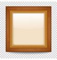 empty gold frame on transparent background wooden vector image vector image