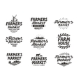Farmers market logo Farm farming icons vector image vector image