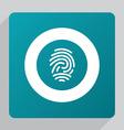 flat fingerprint icon vector image vector image