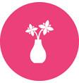flowers in vase vector image vector image