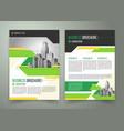 flyer cover design business brochure vector image vector image