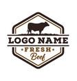 fresh beef logo design vector image
