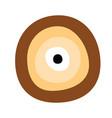 greek evil eye in brown colors vector image vector image