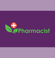 green pharmacy logo template vector image