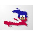haiti country map with shadow effect vector image vector image