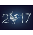 Happy new year 2017 creative greeting card with vector image vector image