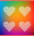 heart finger print vector image vector image