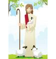 jesus shepherd vector image