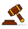 justice hammer icon design vector image