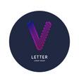 letter v latin alphabet display vector image vector image