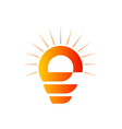 light bulb abstract logo vector image vector image
