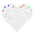 medic fireworks heart vector image vector image