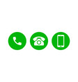 mobile phone call icons support contact phone vector image vector image