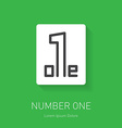 Number one sign Corporate logo design template vector image