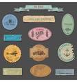Paper vintage design elements vector image