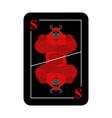 Playing card Satan Conceptual new card devil vector image vector image