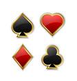 Playing card symbols vector image vector image