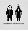 prevention is better than cure a motivational and vector image vector image