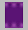 purple geometric halftone pattern flyer design vector image vector image