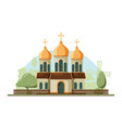 religion building christian traditional church vector image