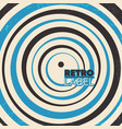 retro background design with circular lines and vector image vector image