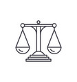 scales of justice line icon concept scales of vector image vector image