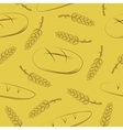 Seamless pattern with spikelets and bread vector image vector image