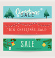 set christmas sale banners design discounts vector image vector image