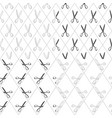 set of black and white patterns with scissors vector image vector image