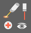 Set of laser medicine icons EPS 10 vector image