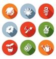Set of Rastaman Icons Dreadlocks vector image vector image