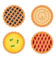 set of sweet pies vector image vector image
