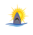 shark and sun vector image vector image