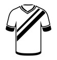 shirt football icon simple black style vector image vector image