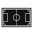 soccer field icon simple style vector image vector image