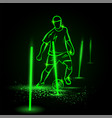 soccer training process green neon soccer player vector image vector image