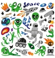 space icons - vector image vector image
