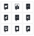 Specialized face book icon set vector image vector image
