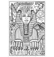 sphinx engraved fantasy vector image vector image