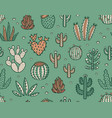 succulent colorful seamless pattern hand drawn vector image vector image