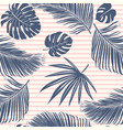 summer navy pink tropical forest leaves bright vector image
