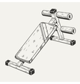The image with of training apparatus vector image vector image