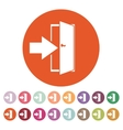 The login icon Entry and input authorization vector image vector image