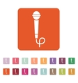The microphone icon Sound symbol Flat vector image vector image