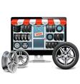 Tire Shop Concept vector image vector image