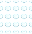 Unique Heartbeat seamless pattern vector image vector image