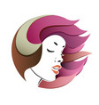 woman s face portrait vector image